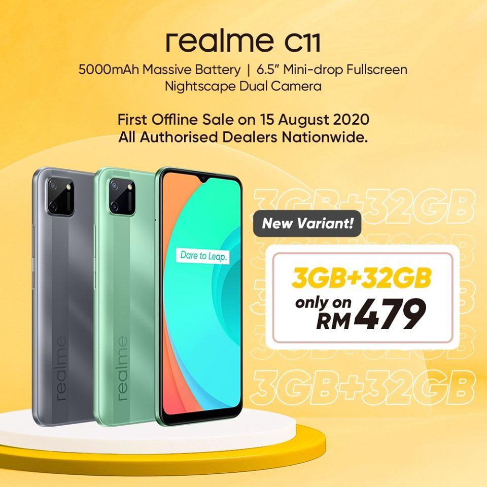 realme C11 3GB RAM
